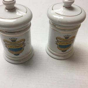 Set of 2 Vintage Apothecary Jars